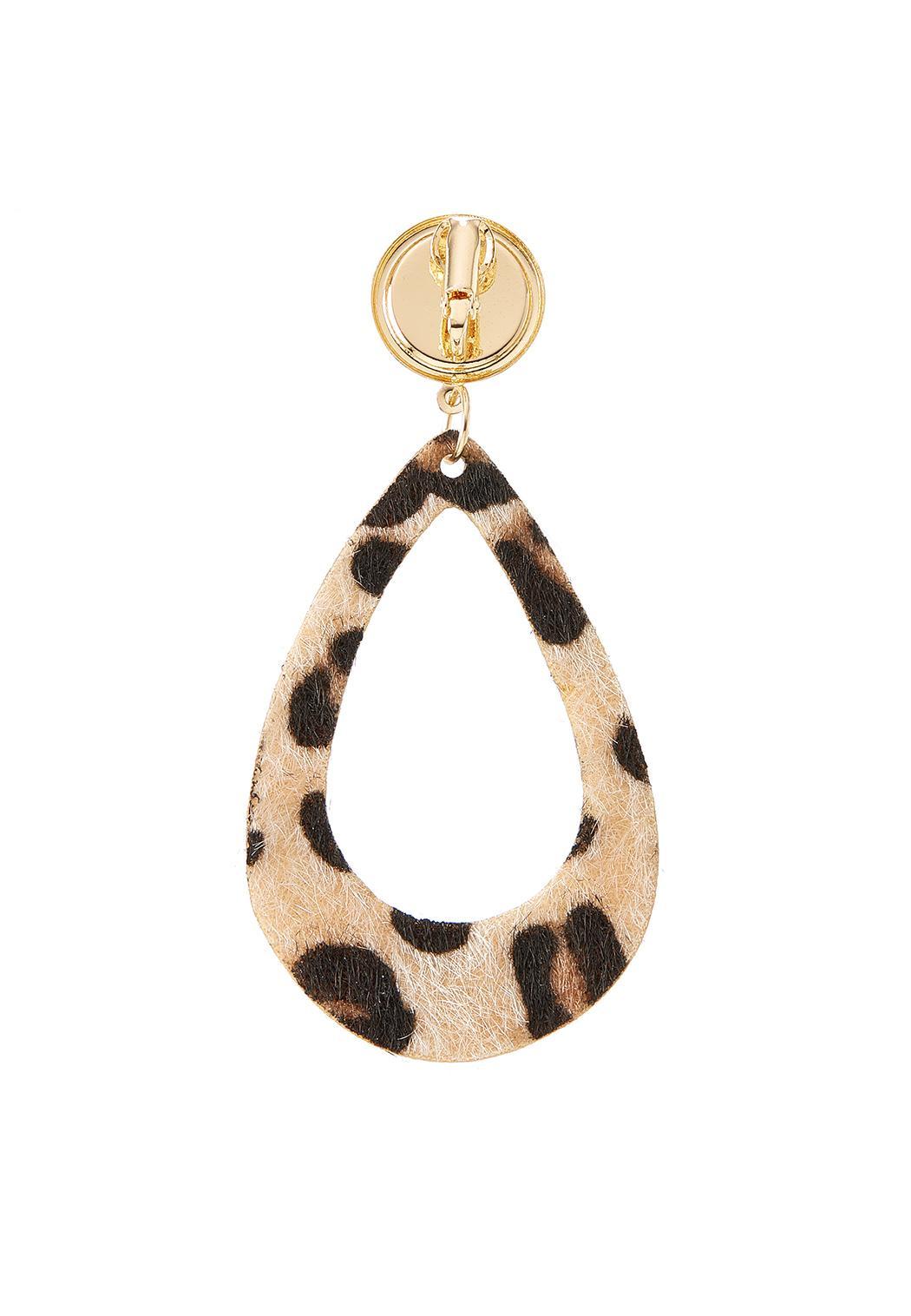 Textured Leopard Clip-On Earrings (Item #44386368)