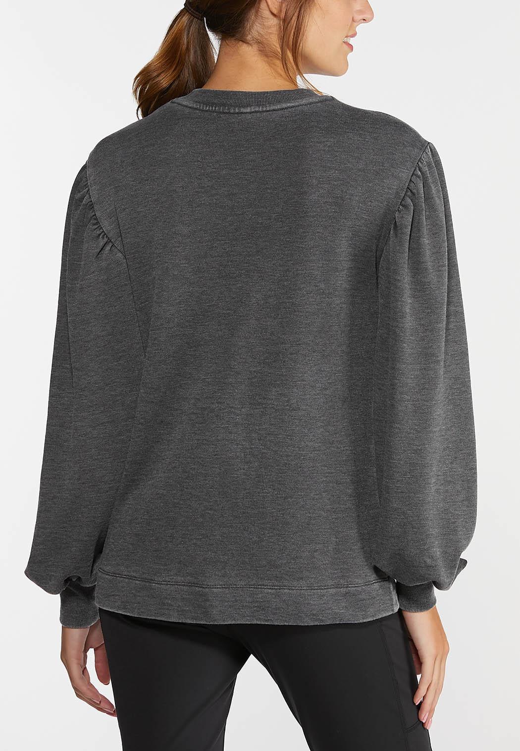 Balloon Sleeve Sweatshirt (Item #44386557)