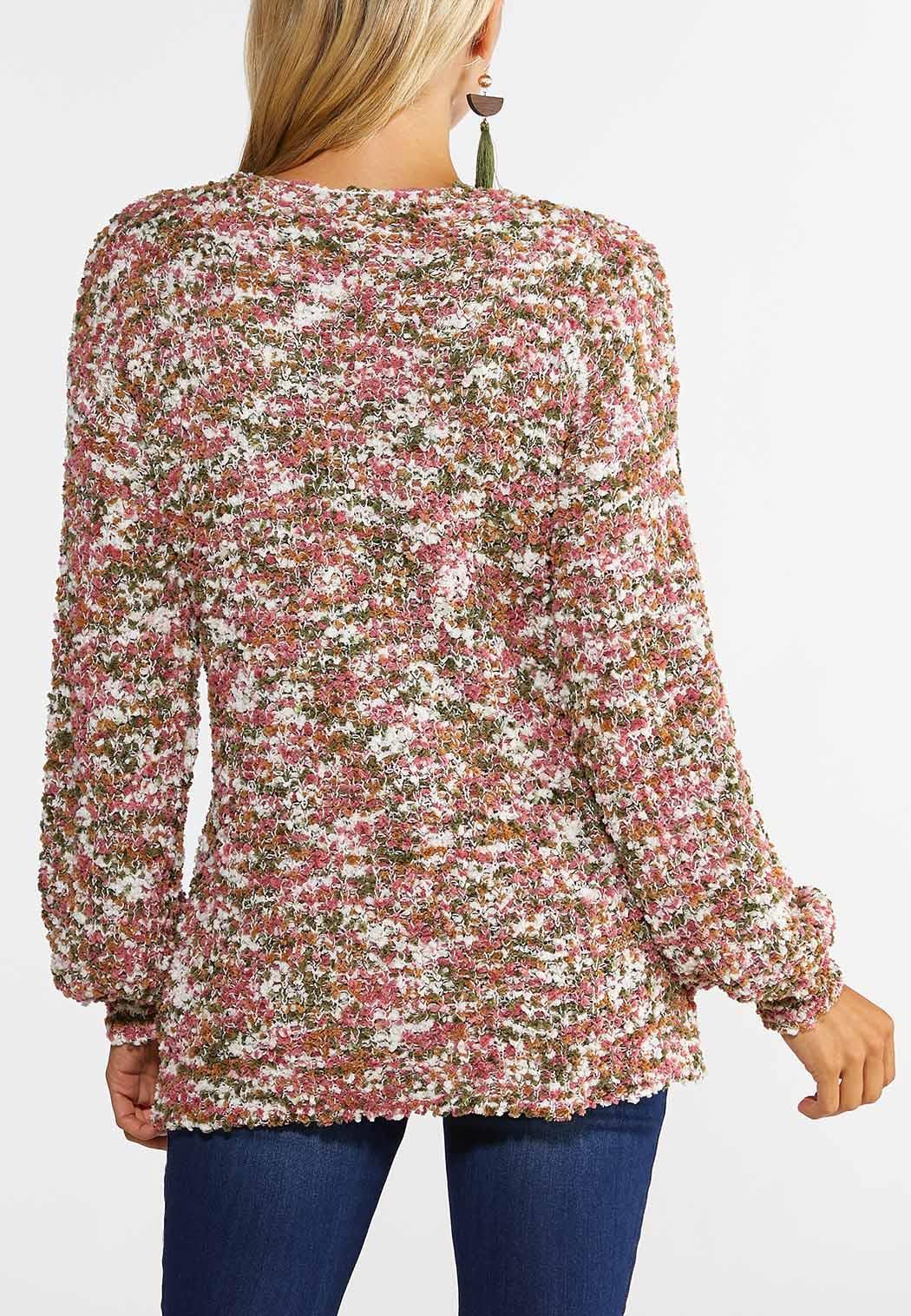Rose Olive Marled Tunic Sweater (Item #44386636)