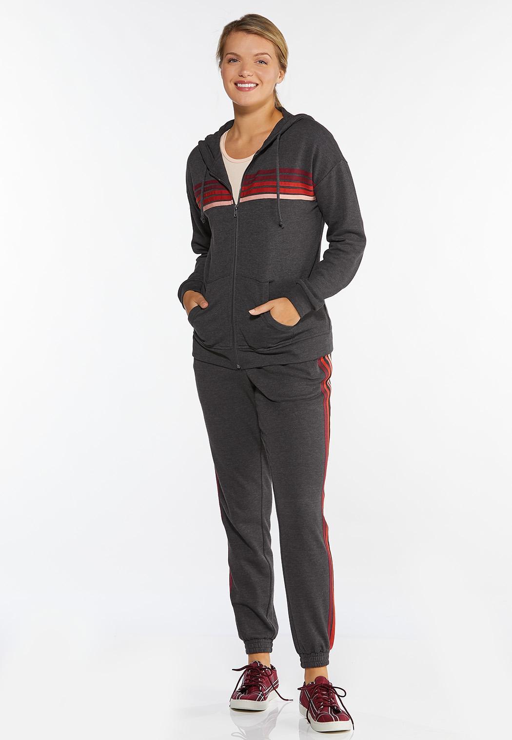 Stripe Hooded Sweatshirt (Item #44386673)