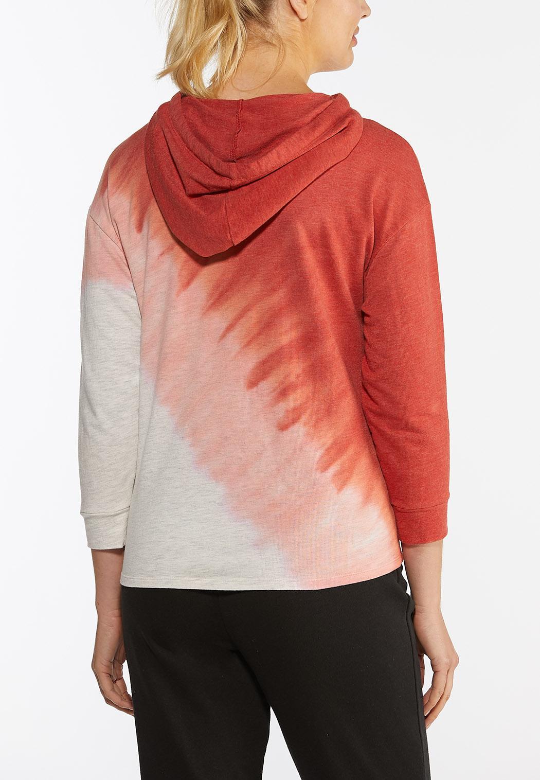 Plus Size Dip Dye Active Hoodie (Item #44386869)