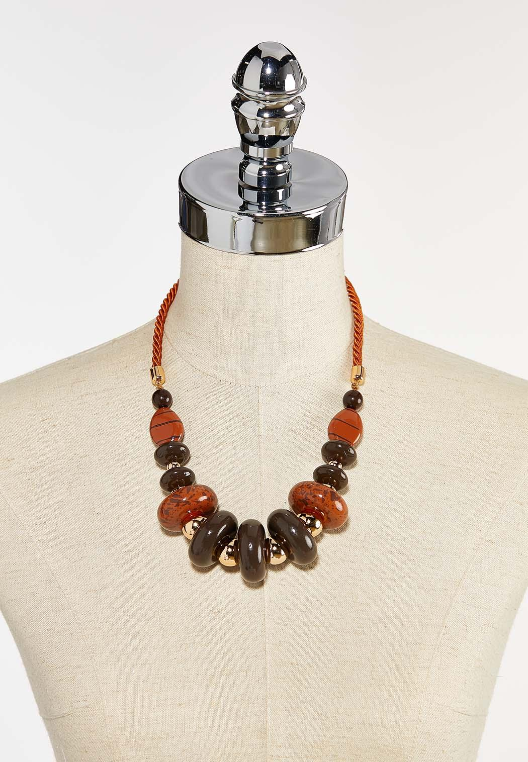 Beaded Twisted Cord Necklace (Item #44386995)