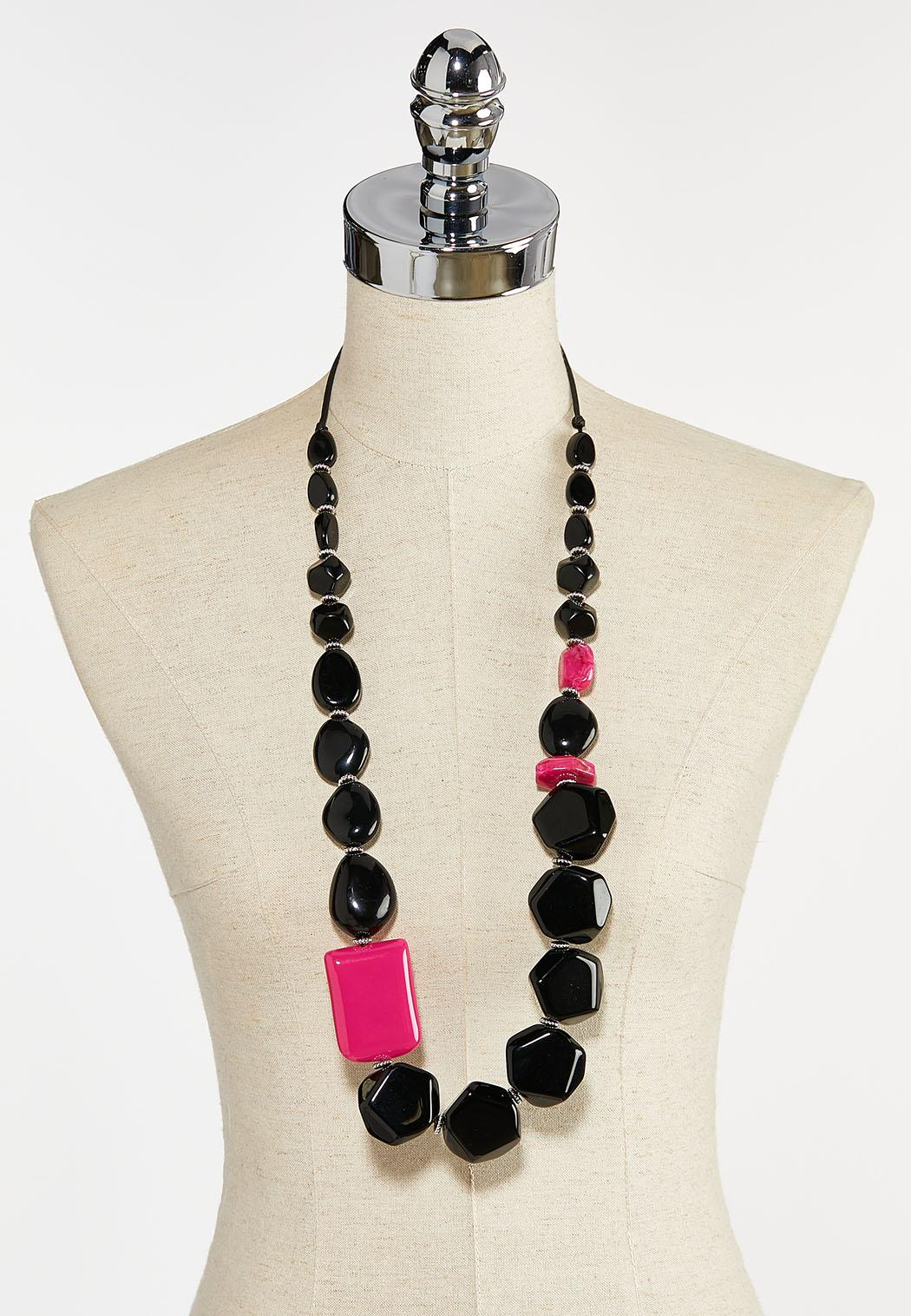 Pop Of Pink Bead Necklace (Item #44387003)