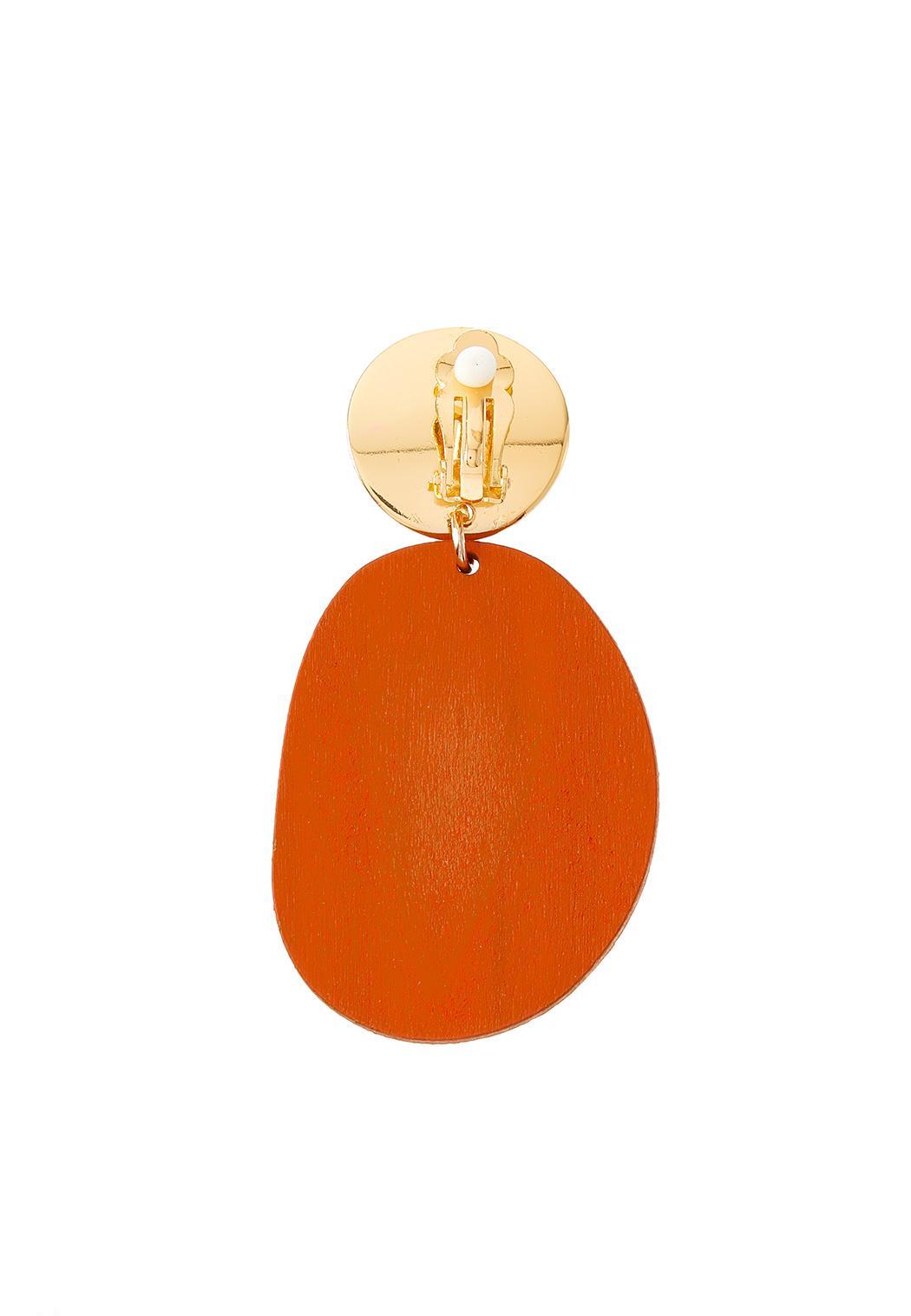 Wooden Citrus Clip-on Earrings (Item #44387419)