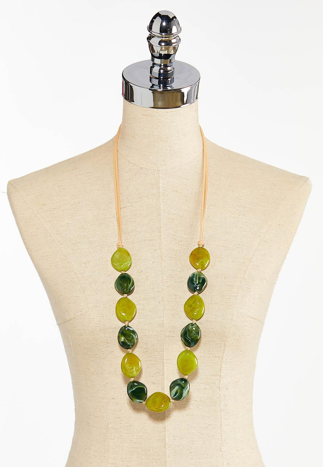 Acrylic Bead Cord Necklace (Item #44387562)