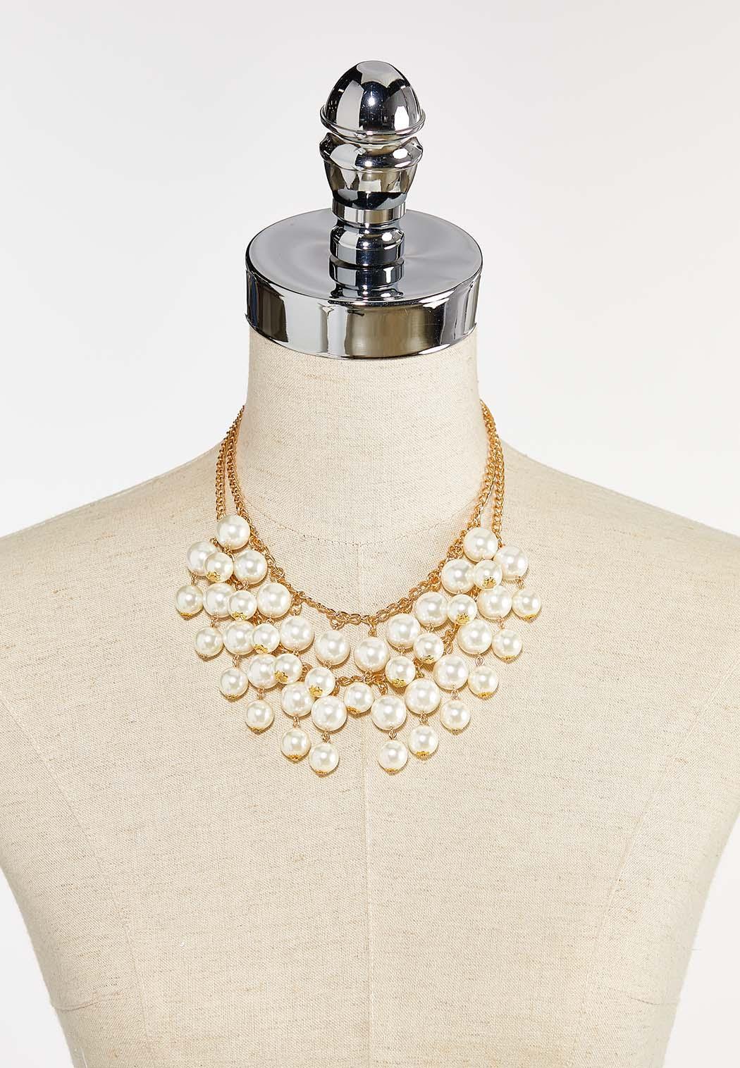Shaky Pearl Bib Necklace (Item #44387579)