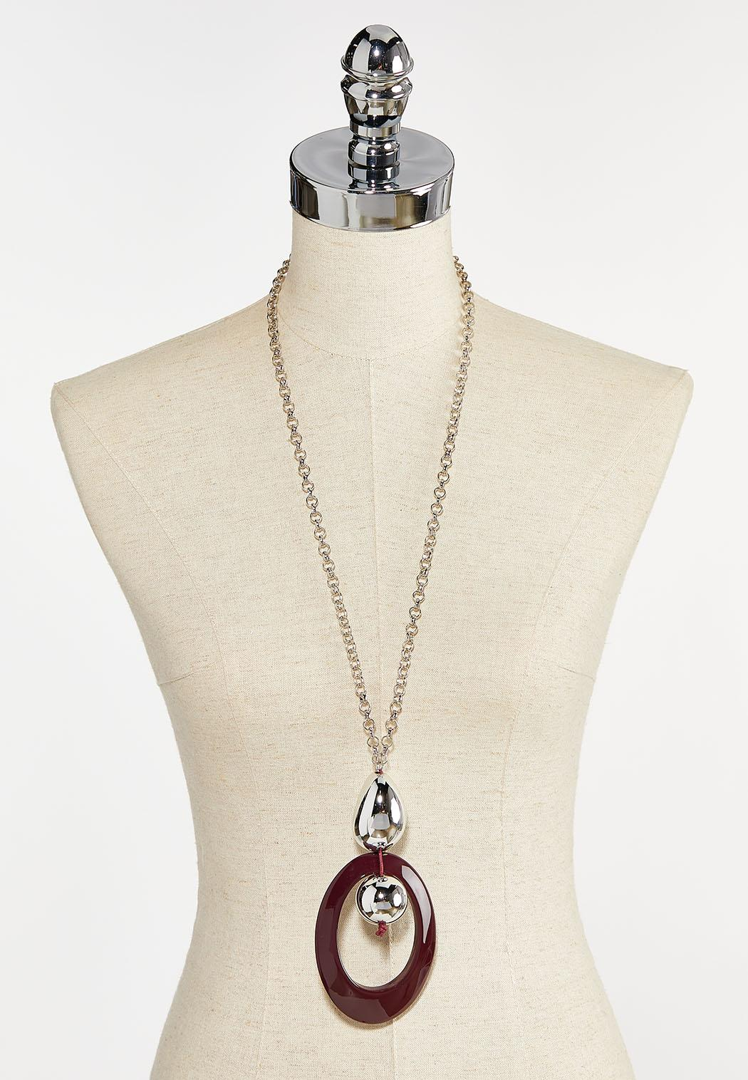 Open Circle Pendant Necklace (Item #44387698)