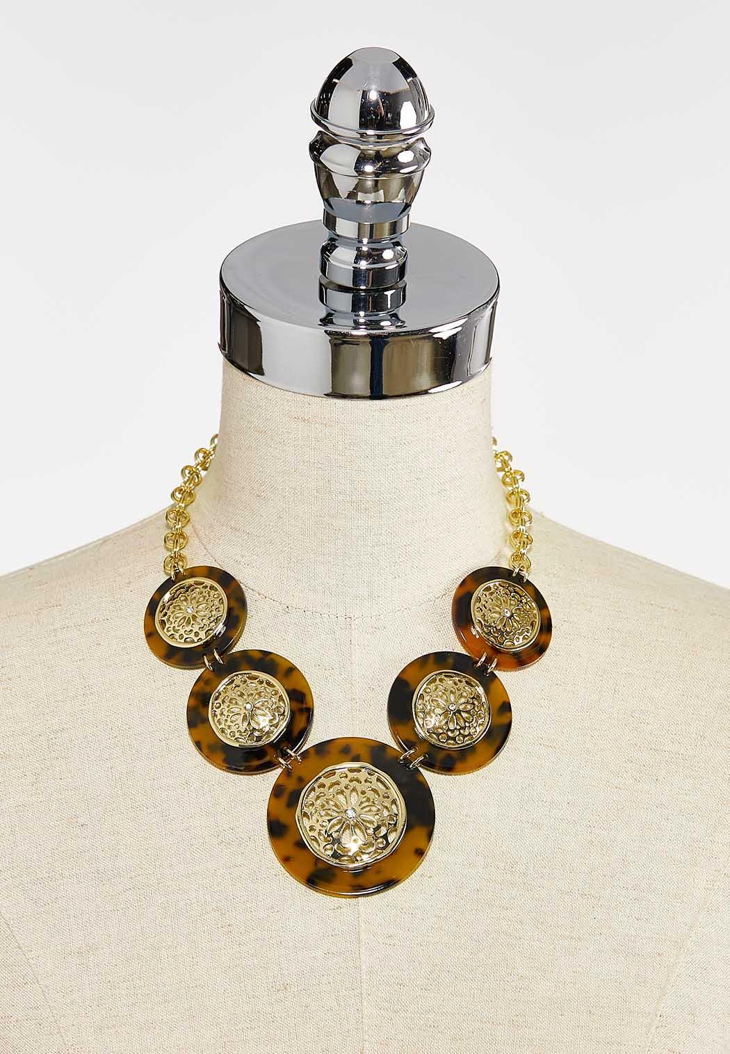 Tortoise Filigree Medallion Necklace (Item #44387701)