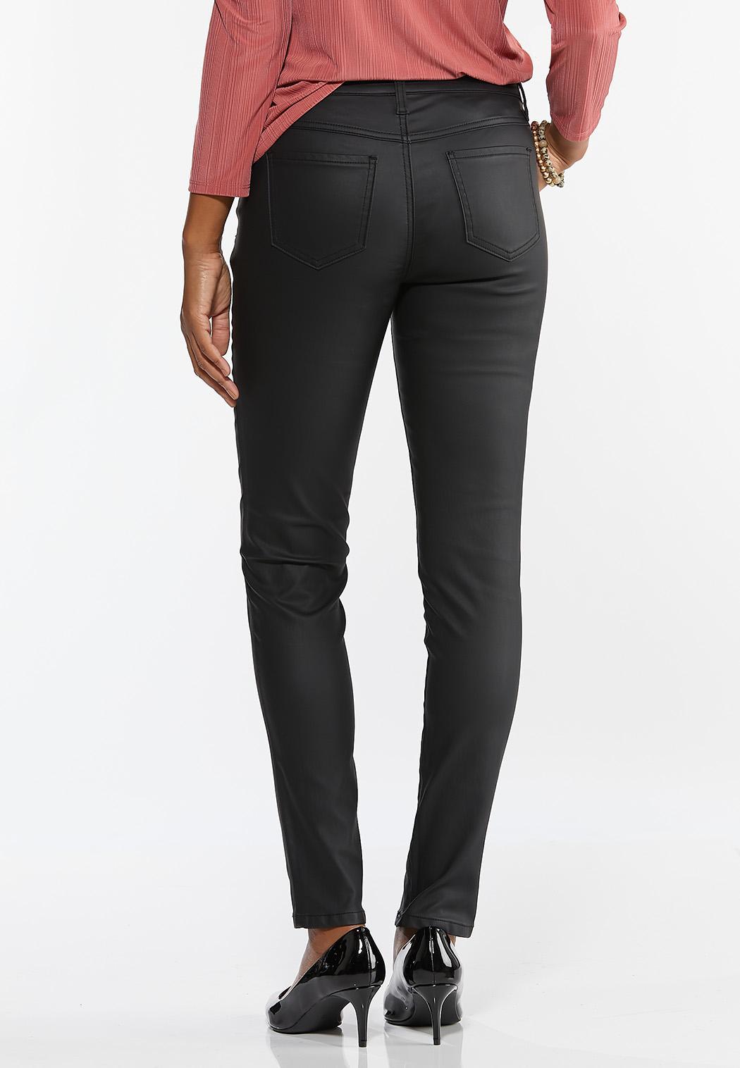 Black Coated Skinny Jeans (Item #44388194)