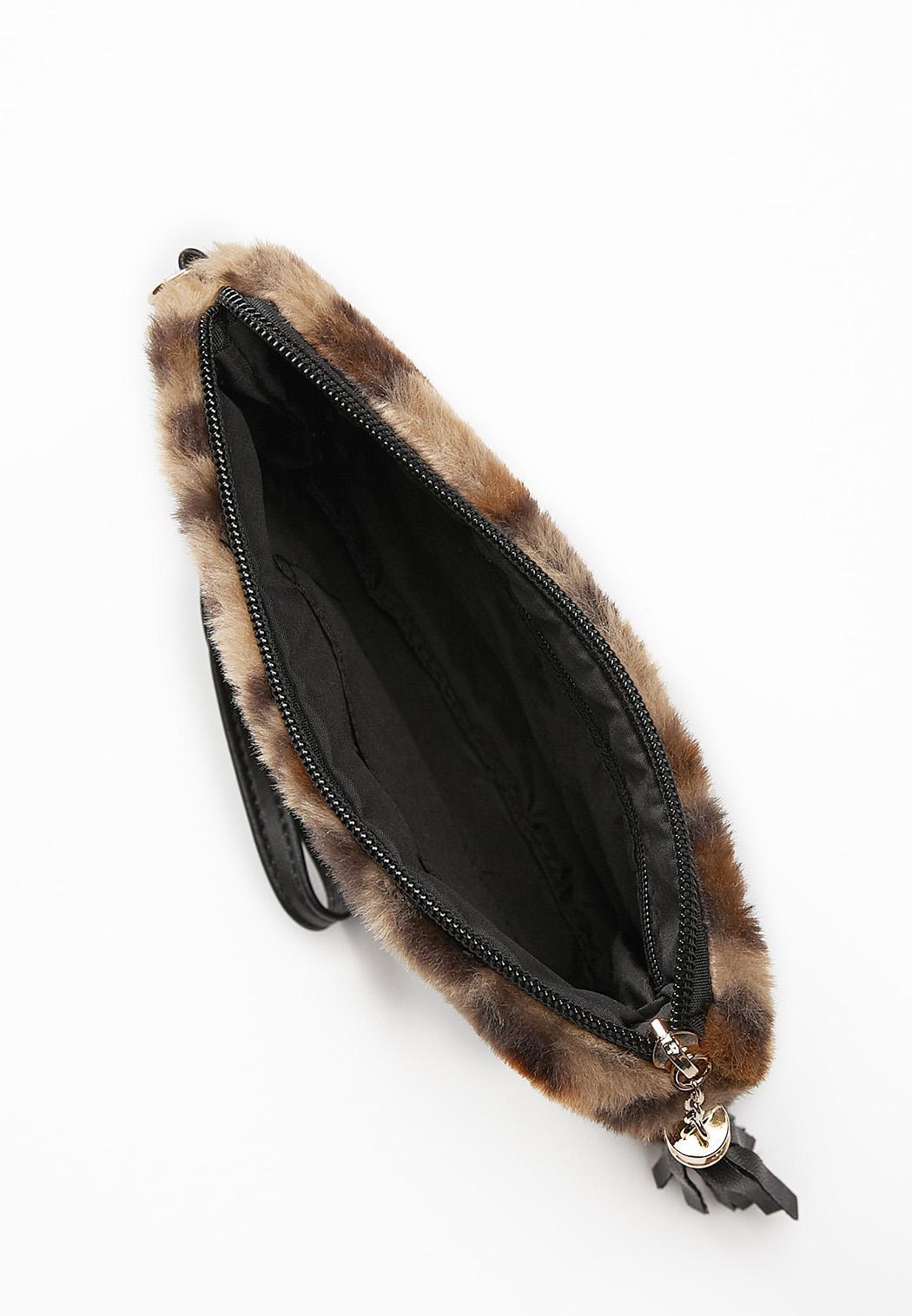 Leopard Faux Fur Wristlet (Item #44388242)