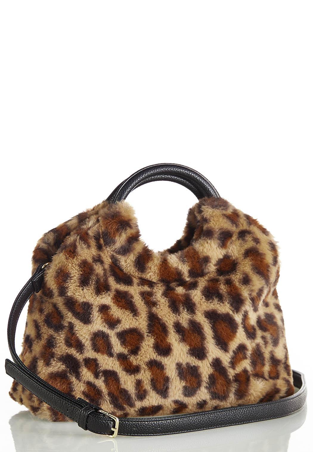 Leopard Faux Fur Satchel (Item #44388244)