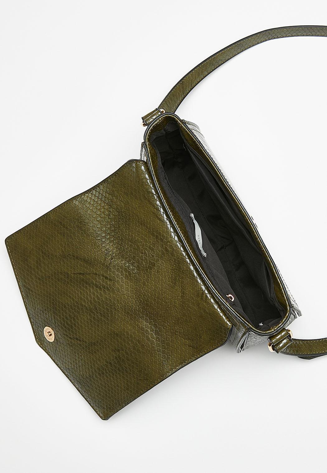 Tonal Faux Snakeskin Crossbody Bag (Item #44388330)