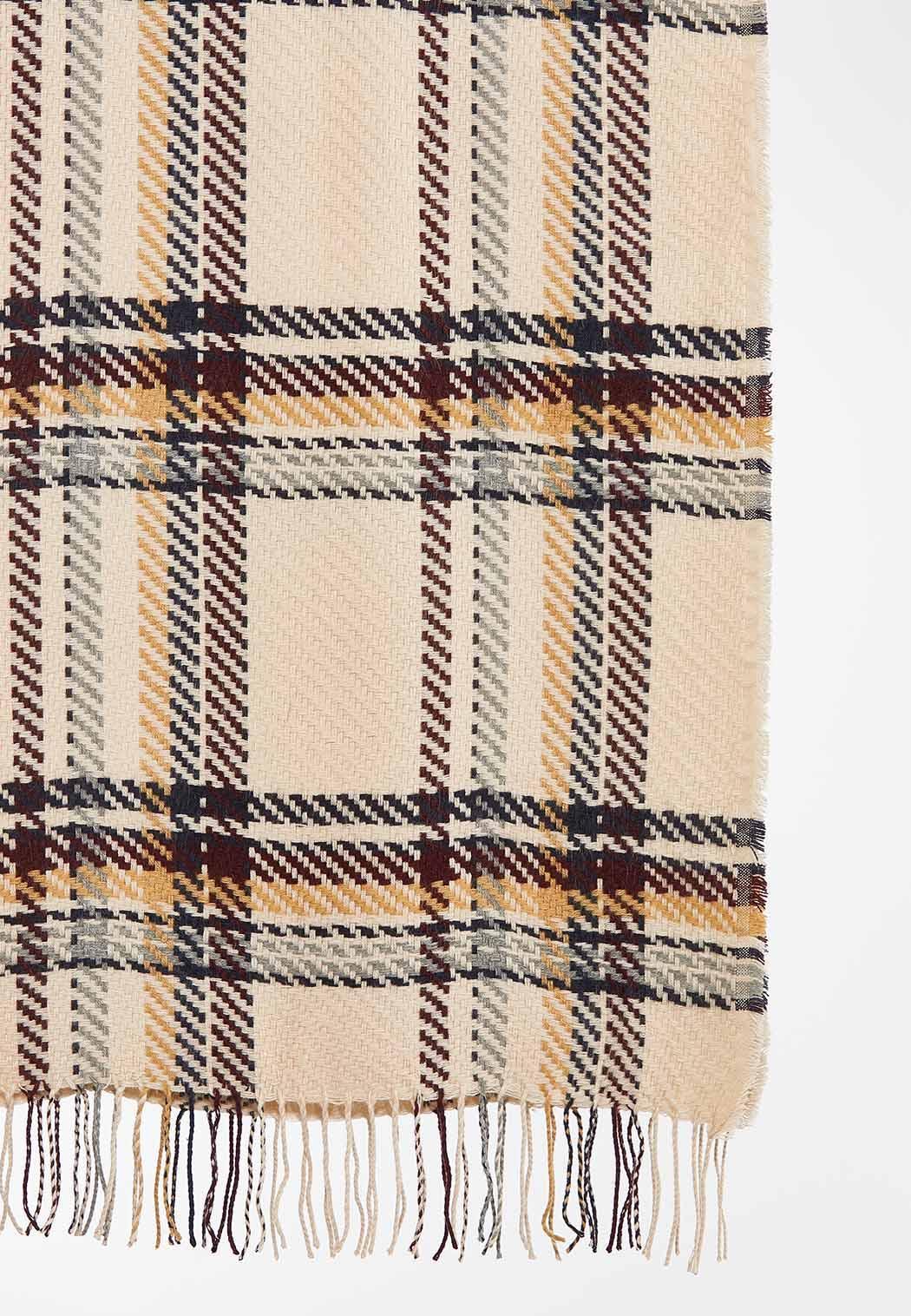 Textured Plaid Oblong Scarf (Item #44388463)