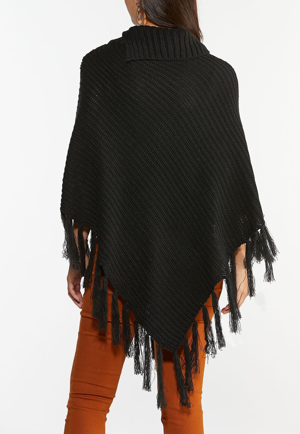 Tasseled Sequin Poncho (Item #44388468)