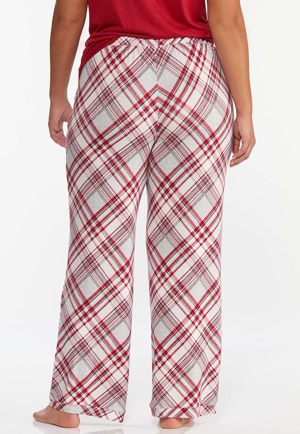 Plus Size Meteor Plaid Sleep Pants (Item #44391068)