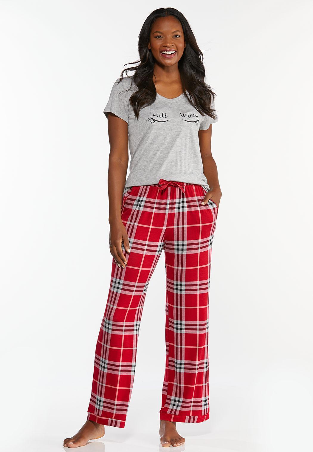 Scarlet Plaid Sleep Pants (Item #44391081)