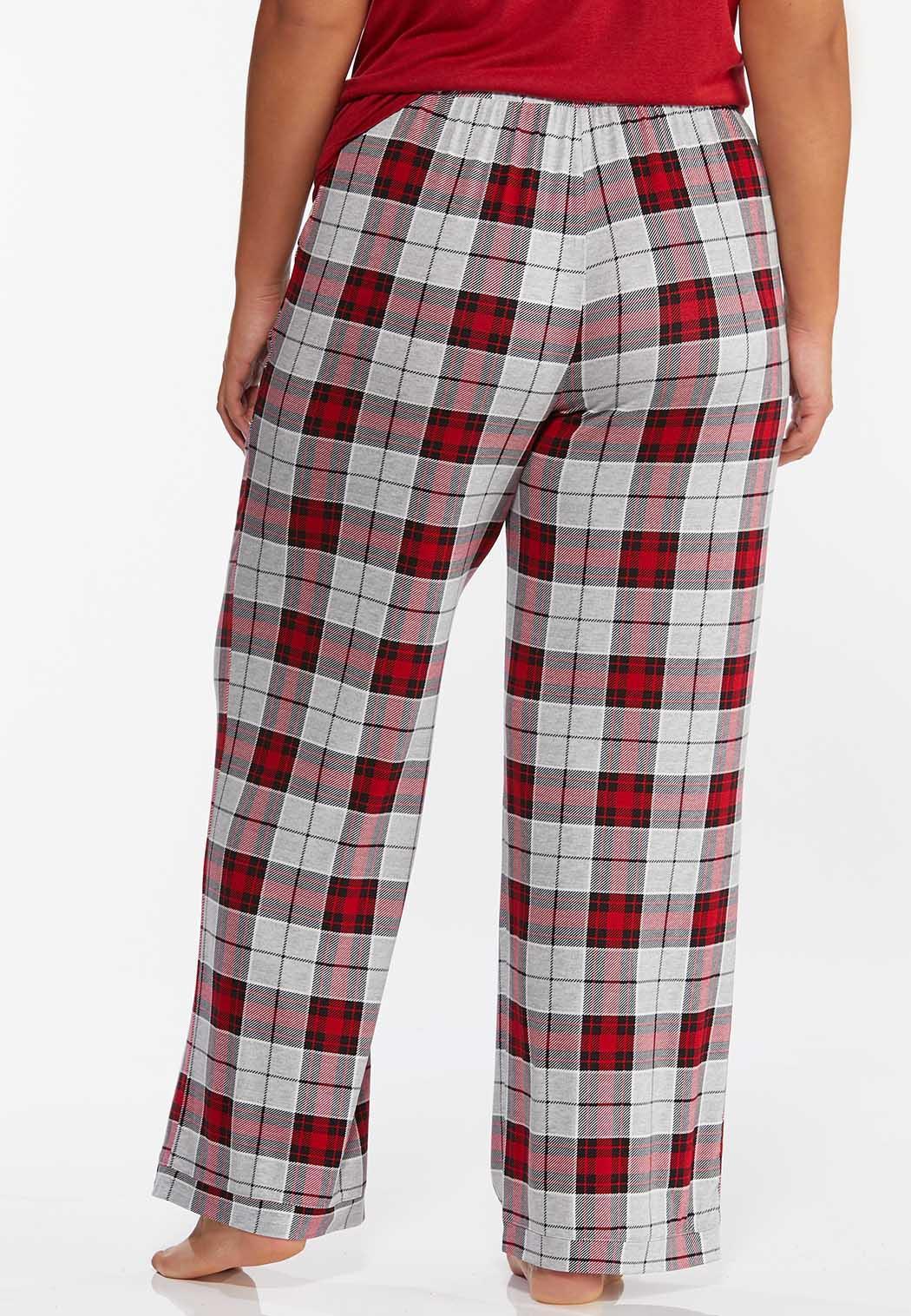 Plus Size Mountain Plaid Sleep Pants (Item #44391120)