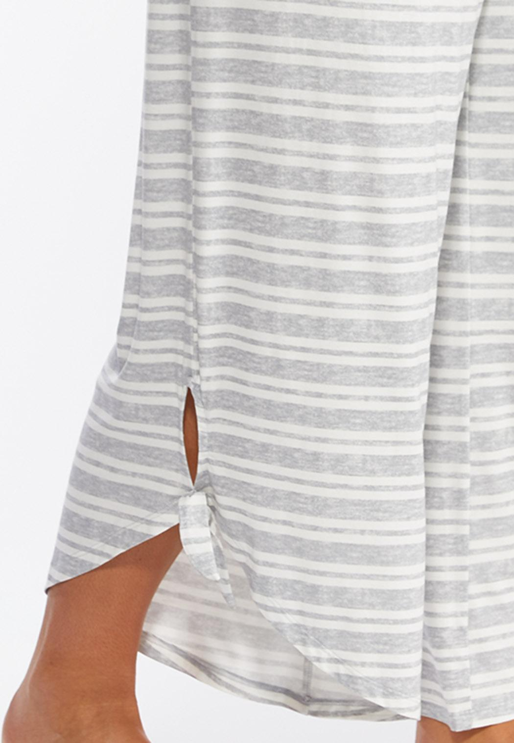Plus Size Gray Stripe Sleep Pants (Item #44391218)