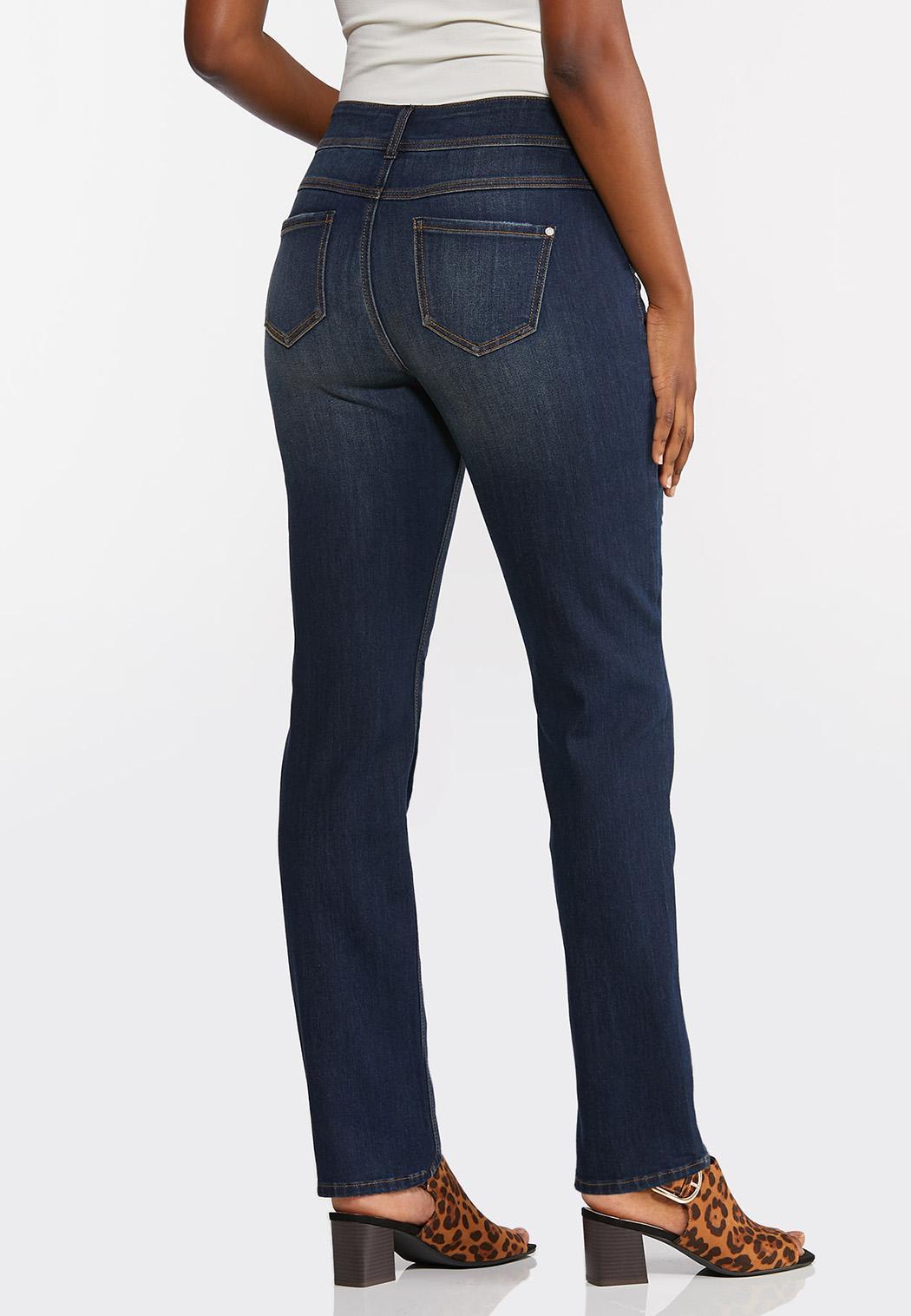 Curvy Straight Leg Jeans (Item #44391761)