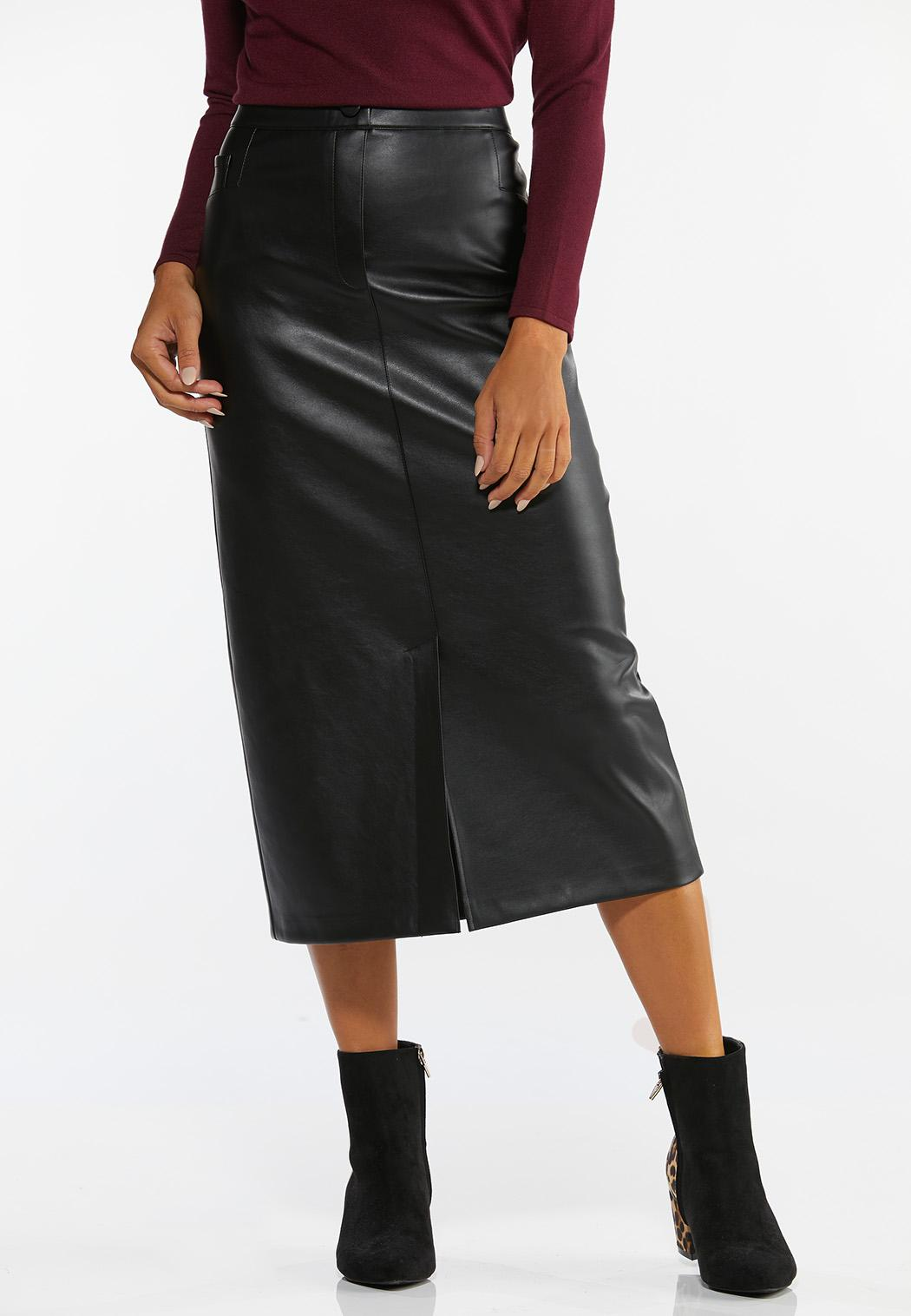 Faux Leather Pencil Skirt (Item #44391826)