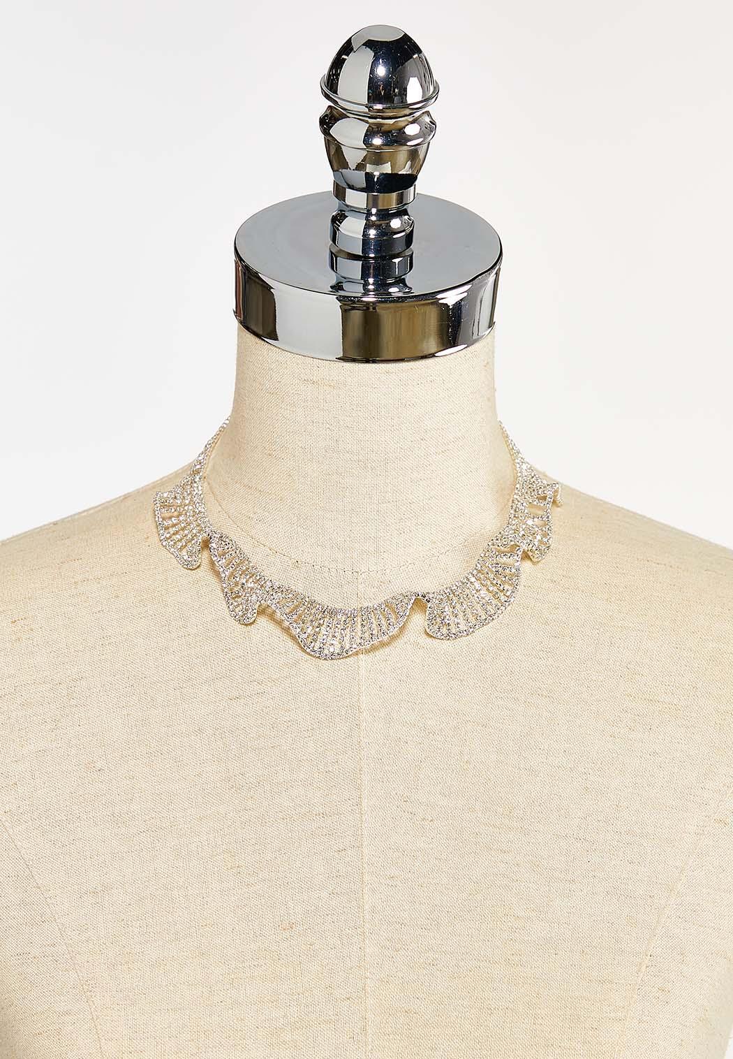 Rhinestone Ruffle Necklace (Item #44393430)