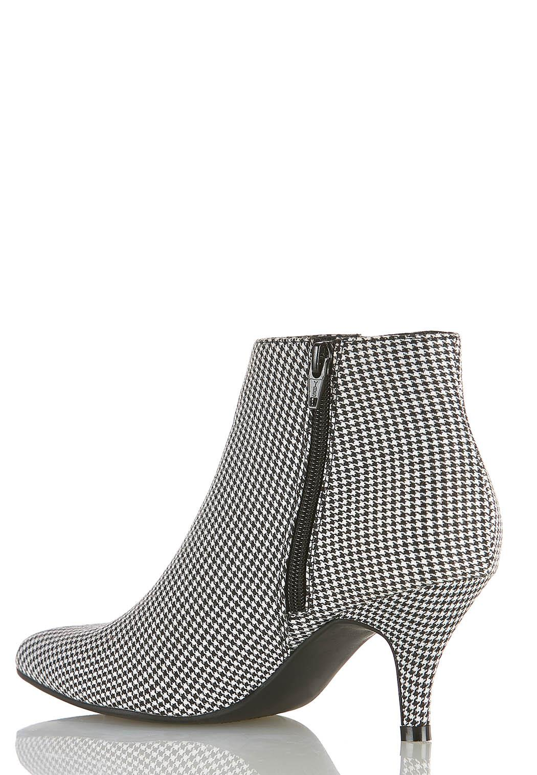 Width Width Houndstooth Stretch Gore Booties  (Item #44393509)