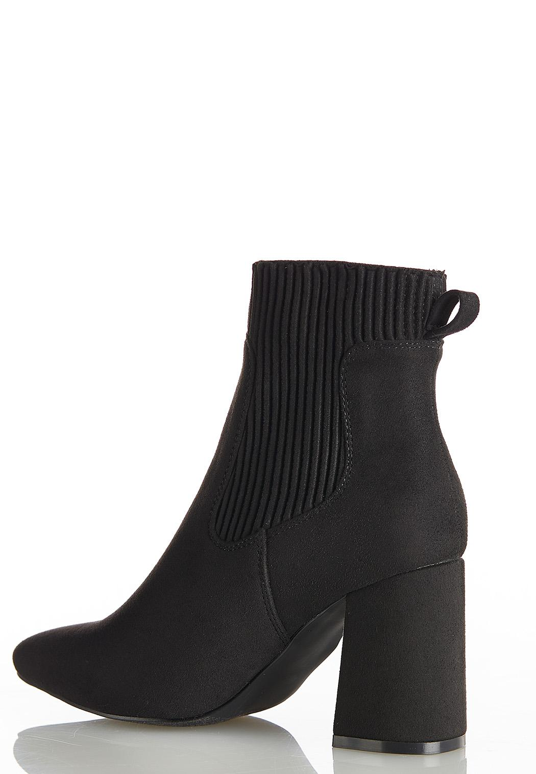 Wide Width Ribbed Side Ankle Boots (Item #44393566)