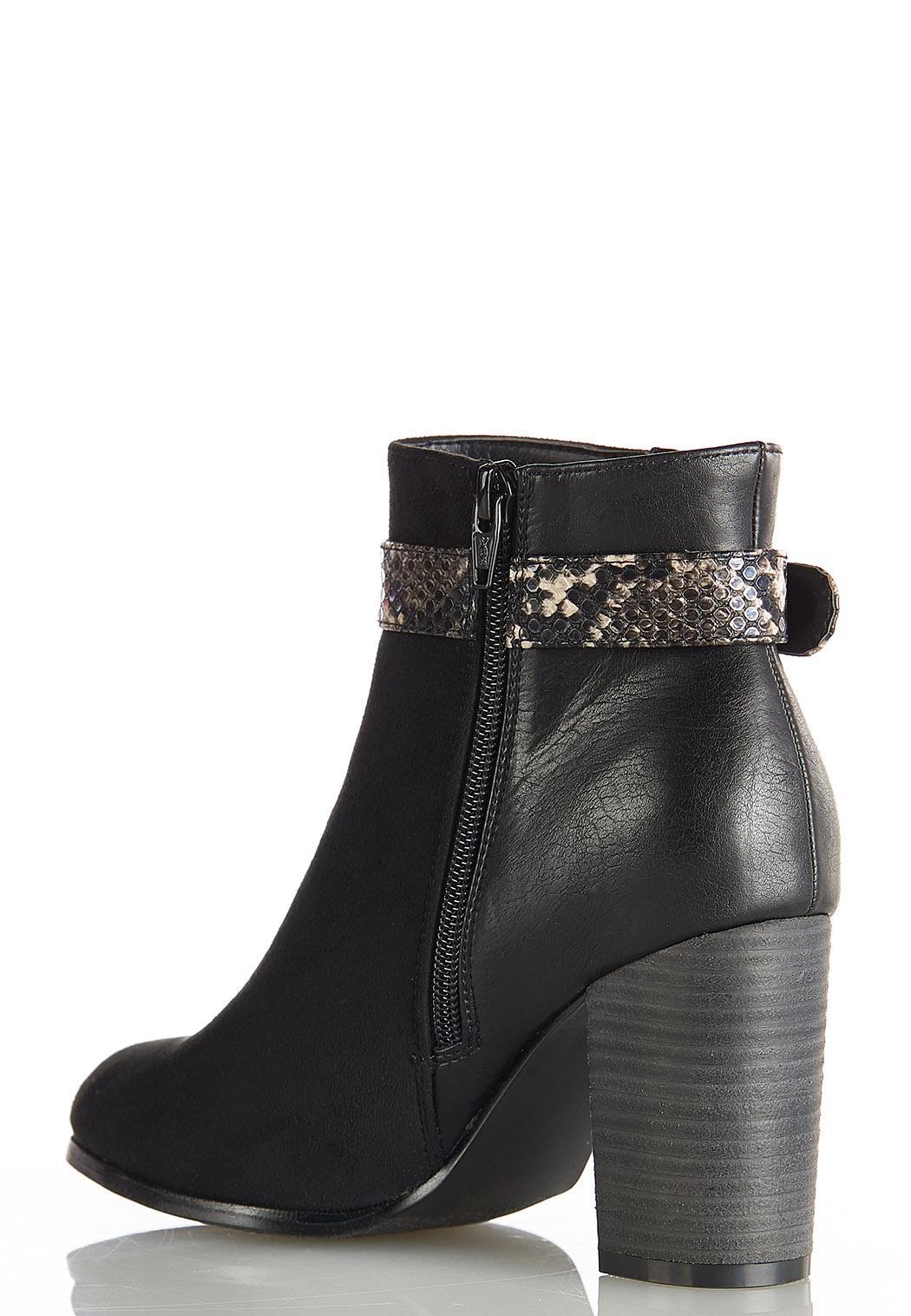 Snake Belt Ankle Boots (Item #44393594)