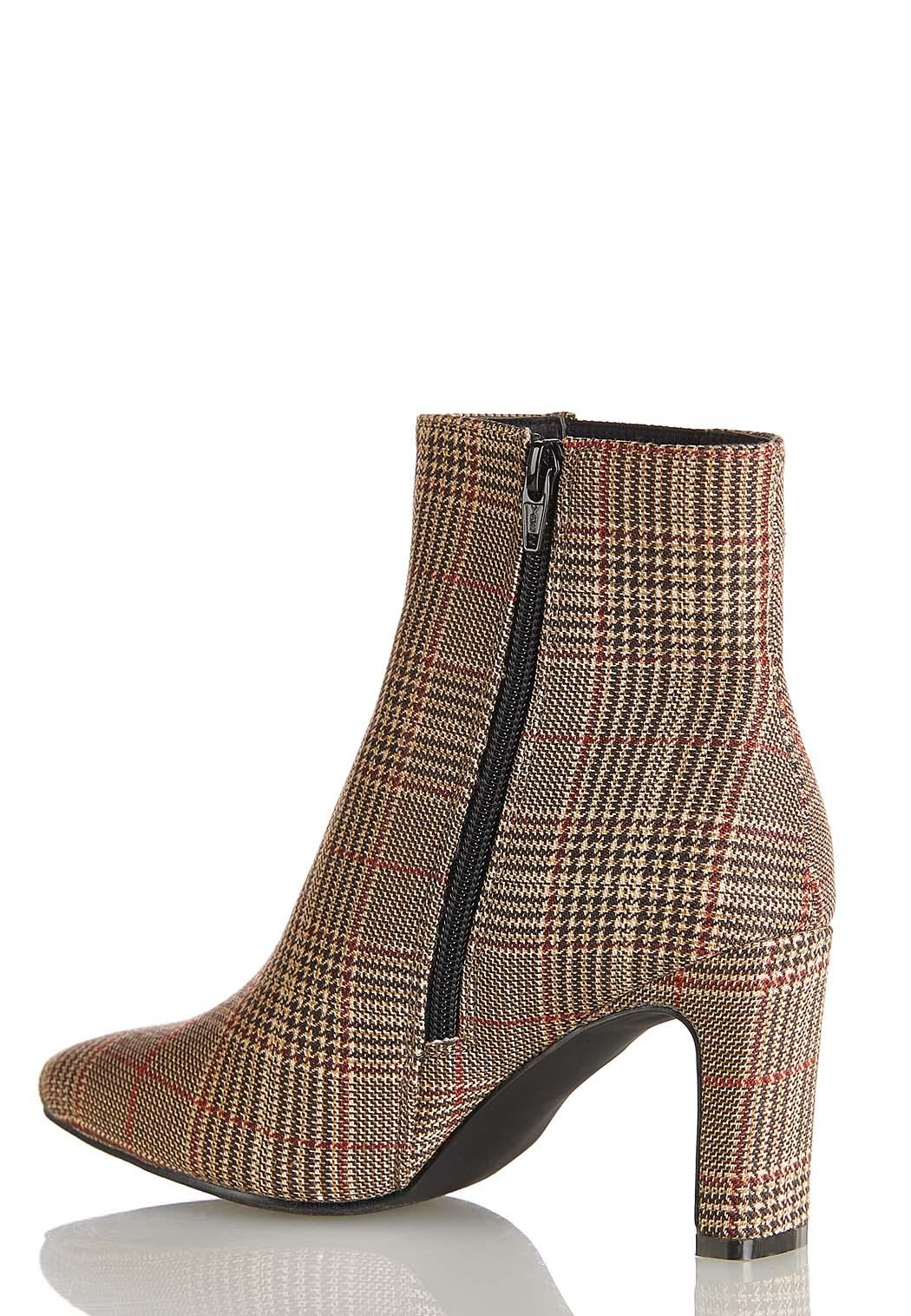 Plaid Ankle Boots (Item #44393684)