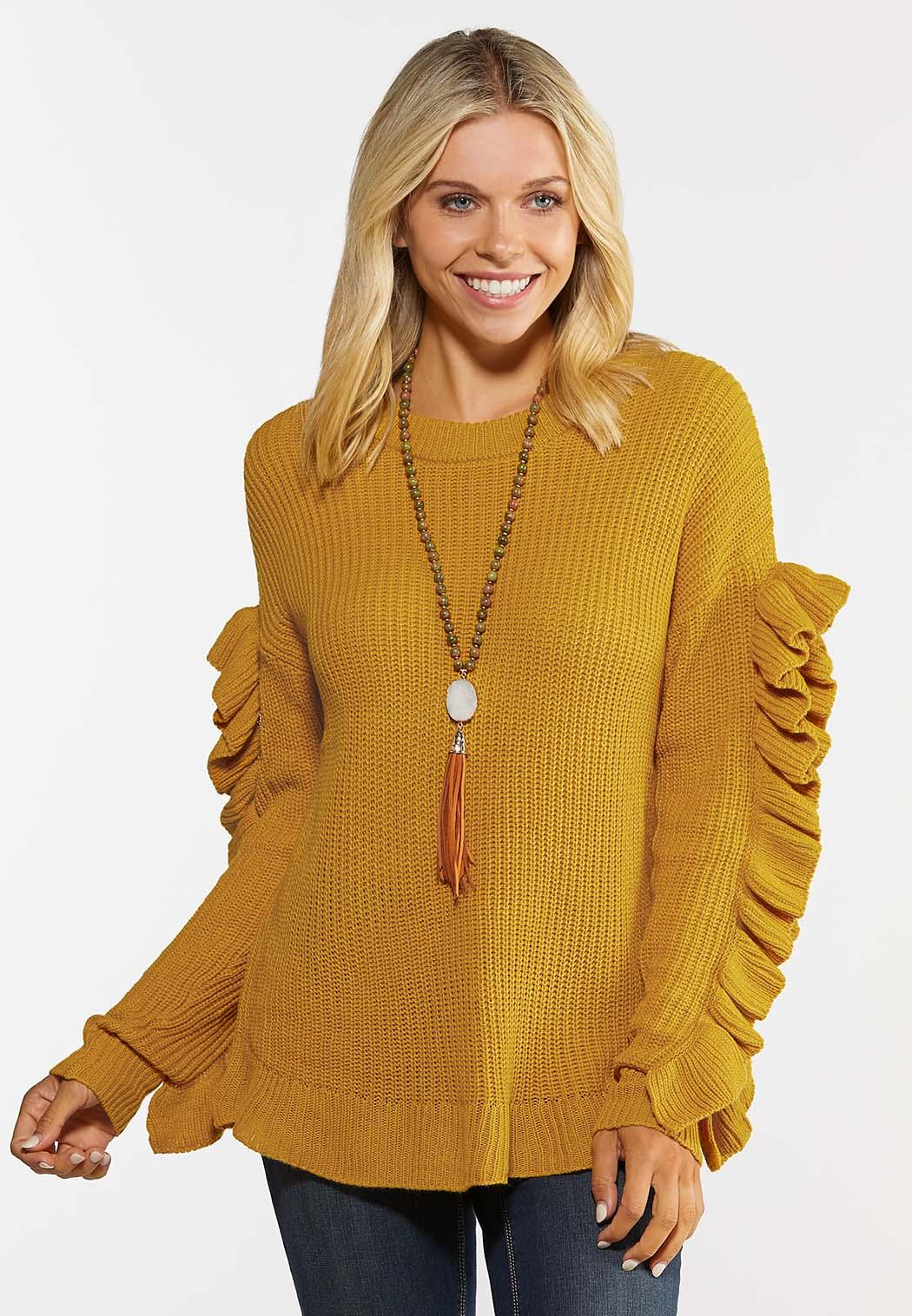 Ruffled Sleeve Sweater (Item #44393922)