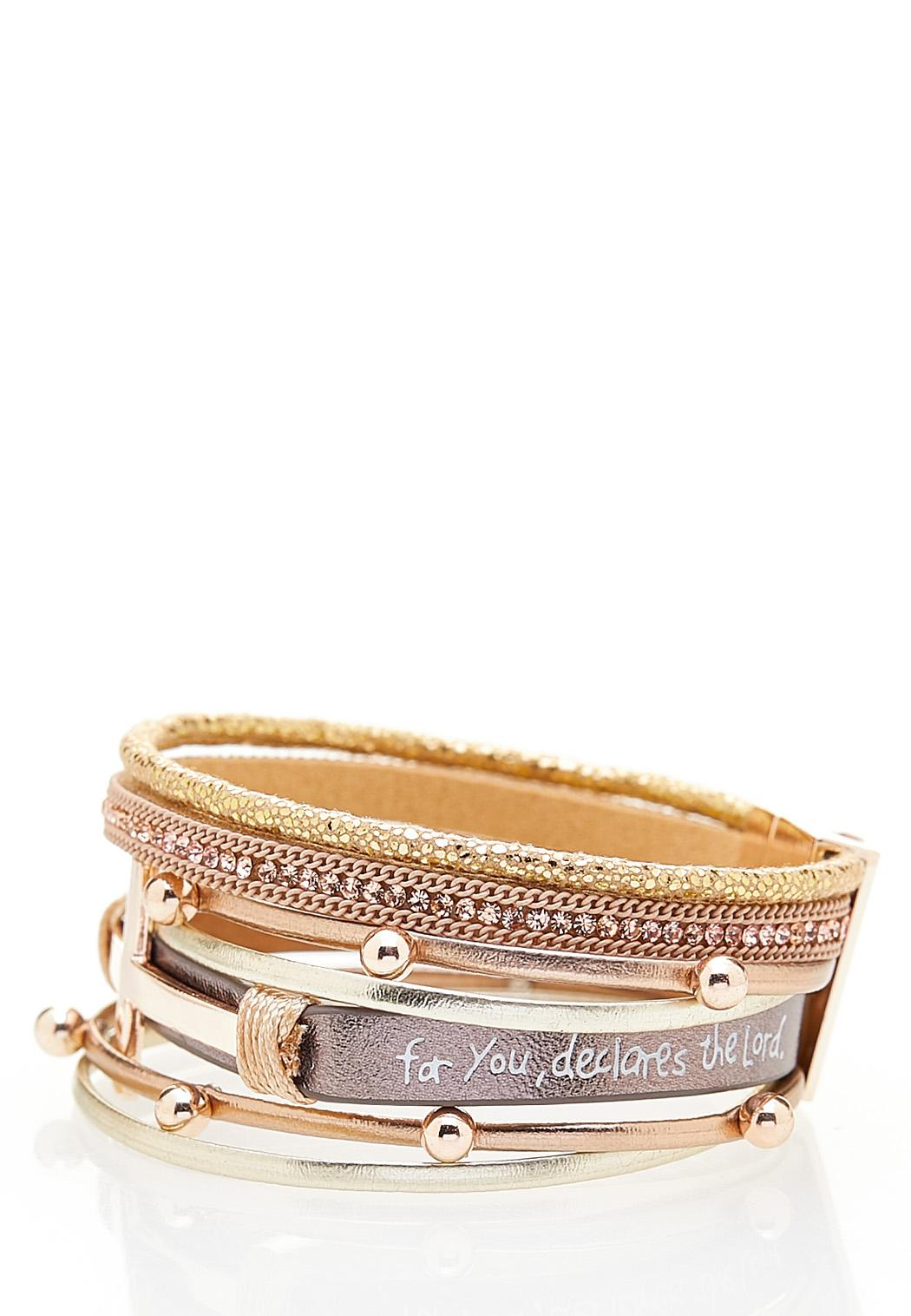 Inspirational Faux Leather Bracelet (Item #44393987)