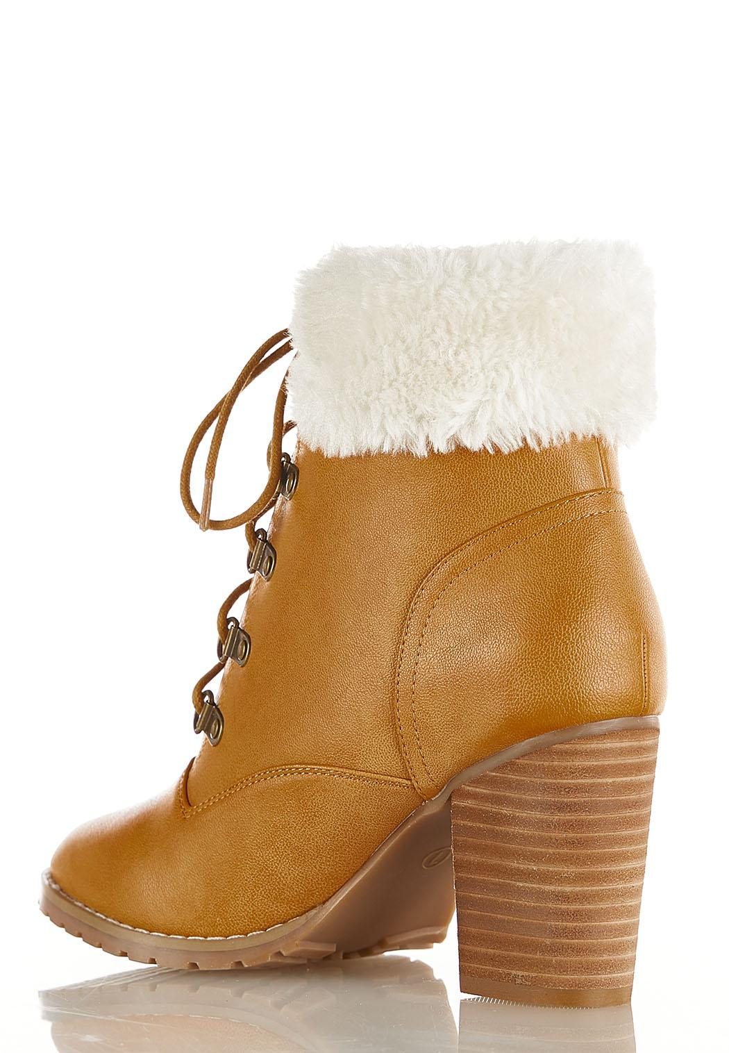 Wide Width Sherpa Cuff Ankle Boots (Item #44394187)