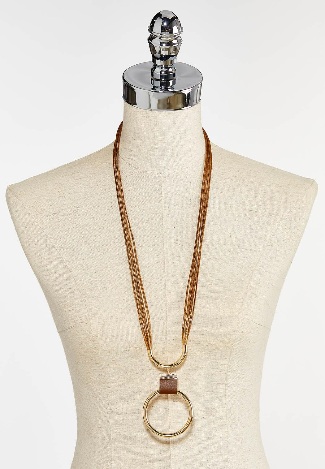 Ring Pendant Cord Necklace (Item #44394471)