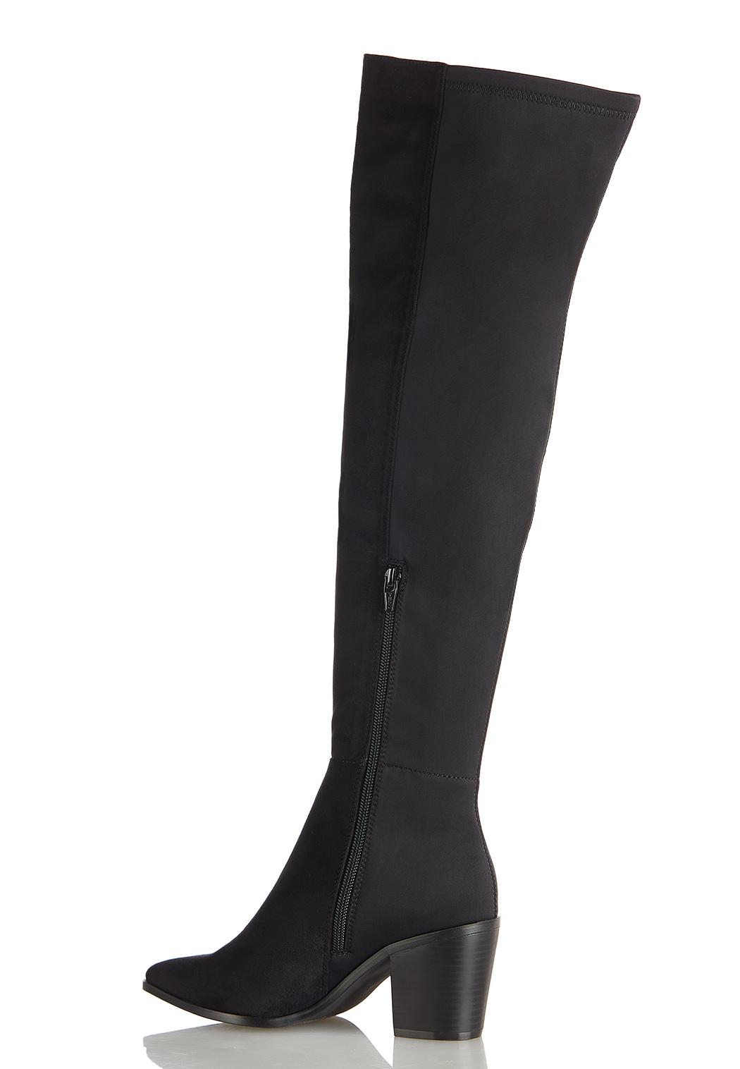 Wide Width Stretch Calf Tall Boots (Item #44394523)