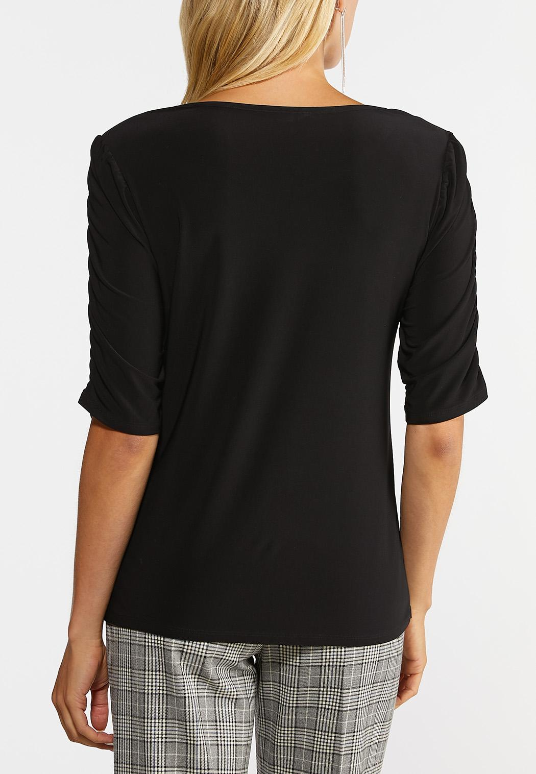 Ruched Puff Sleeve Top (Item #44396130)