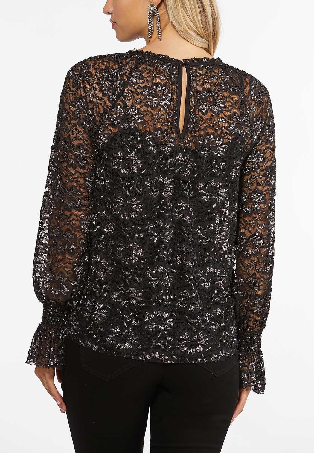 Metallic Lace Top (Item #44396433)