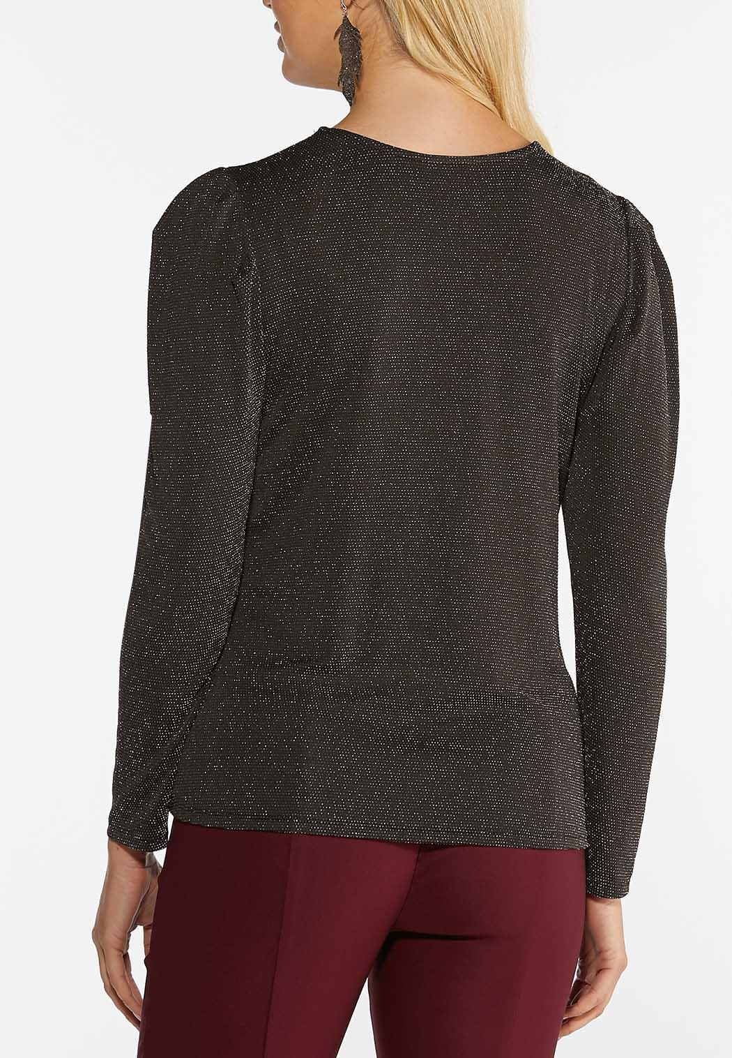Shimmer Puff Sleeve Top (Item #44396476)