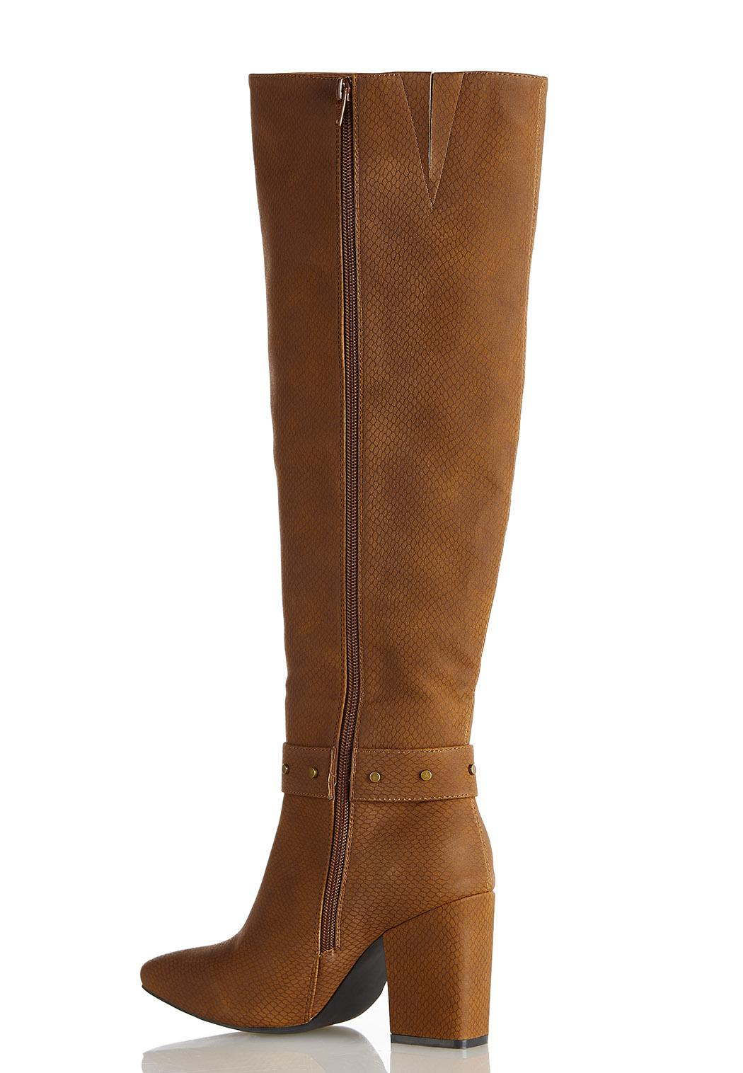 Wide Width Tort Buckle Tall Boots  (Item #44396683)
