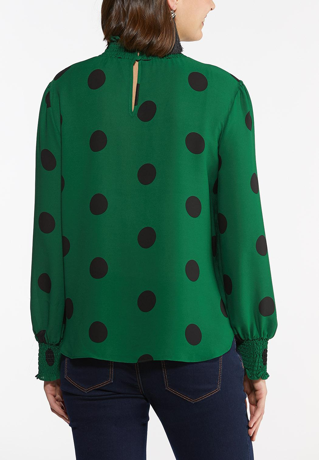 Dotted Mock Neck Top (Item #44396726)