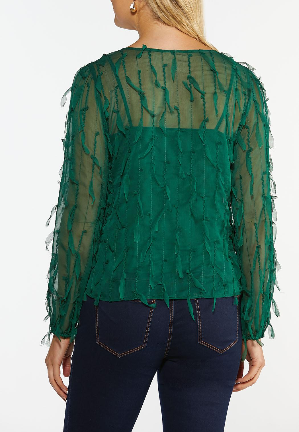 Plus Size Petal Fringe Top (Item #44396805)