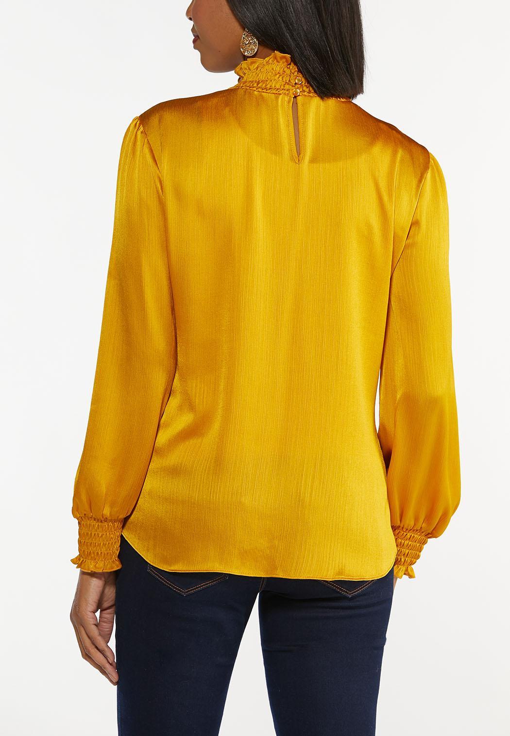 Plus Size Dressy Smocked Top (Item #44396867)