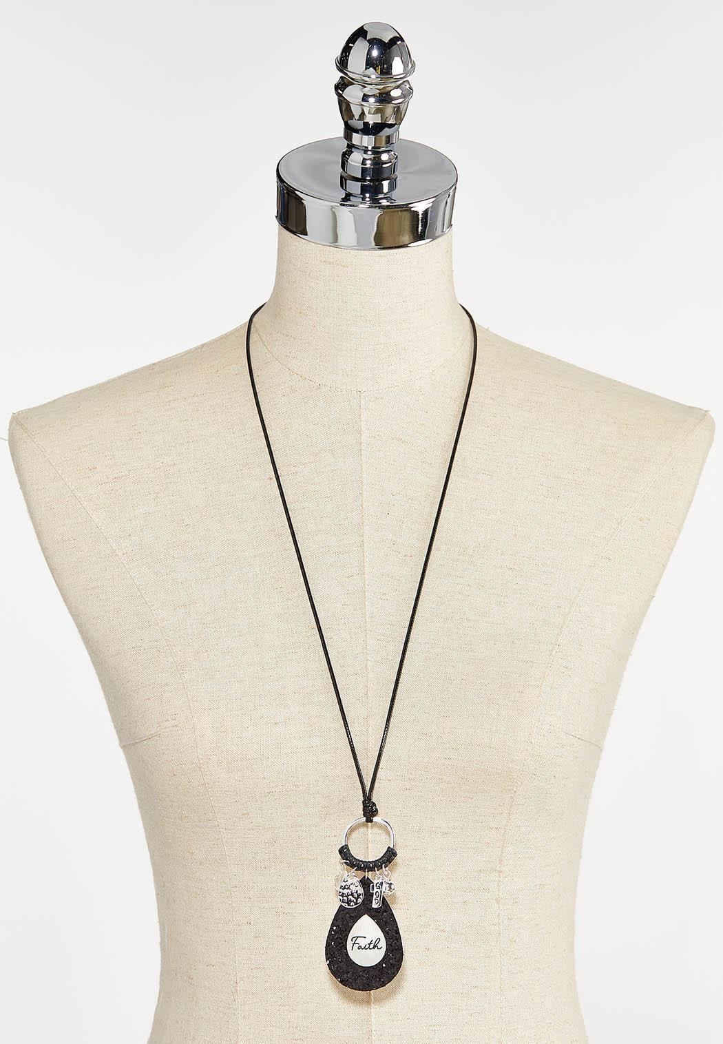 Inspirational Cord Pendant Necklace (Item #44397560)