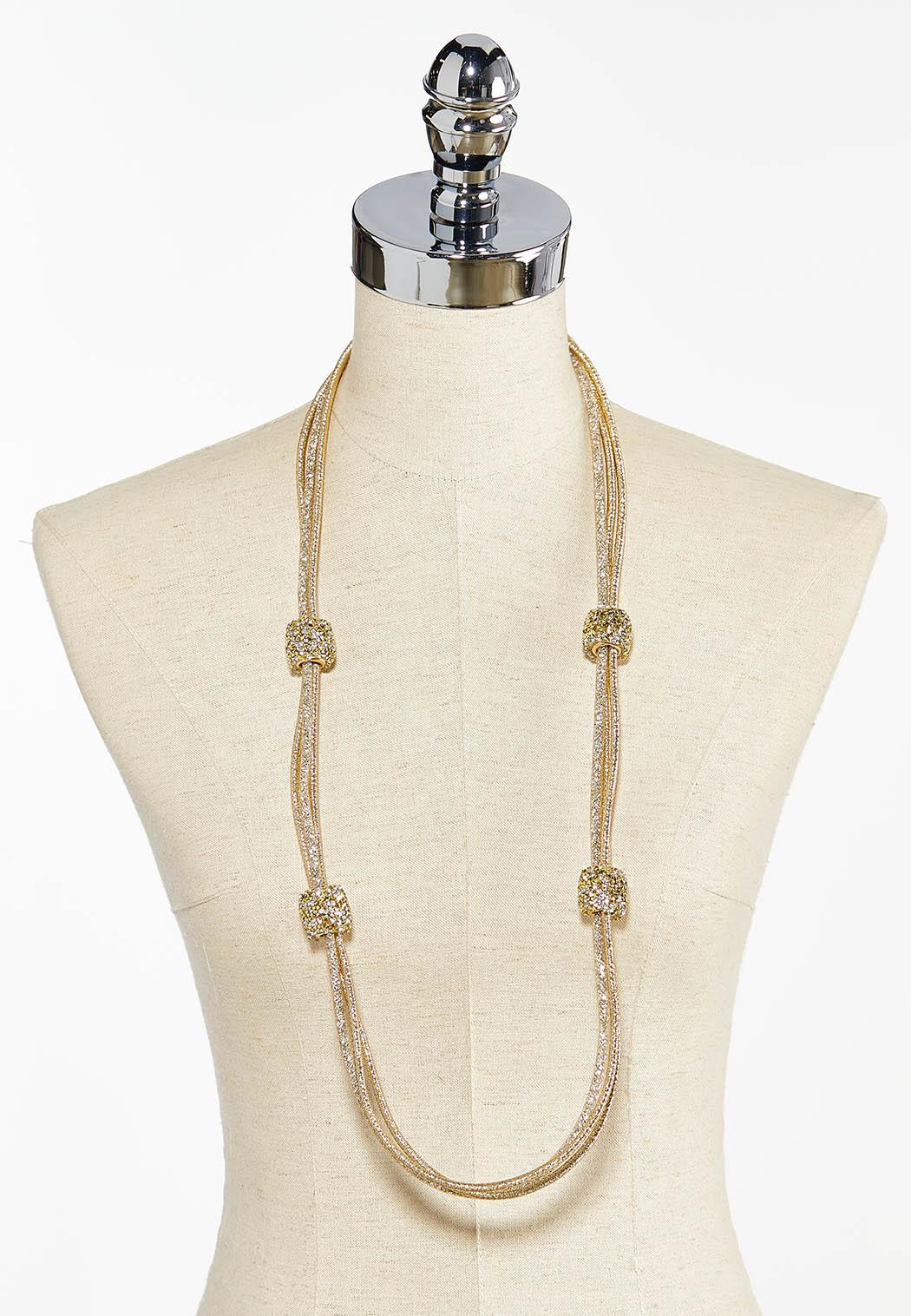 Glimmery Gold Mesh Necklace (Item #44397584)