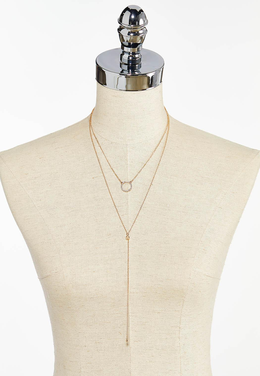 Delicate Layered Y-Necklace (Item #44397602)