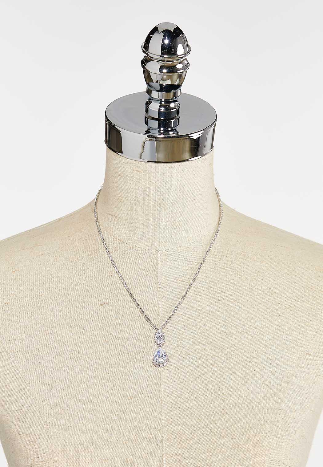 Tear Shaped Cupchain Pendant Necklace (Item #44398947)