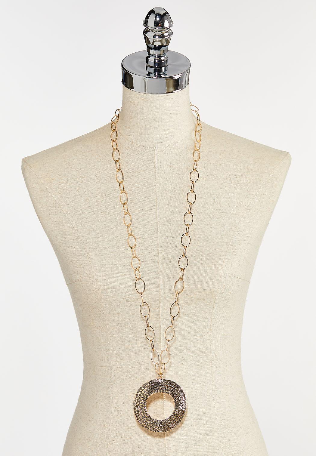 Statement Stone Pendant Necklace (Item #44399549)