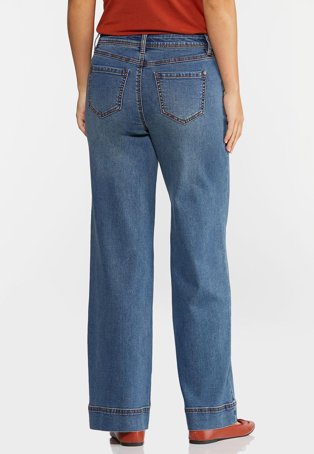 Petite High-Rise Wide Leg Jeans (Item #44400182)