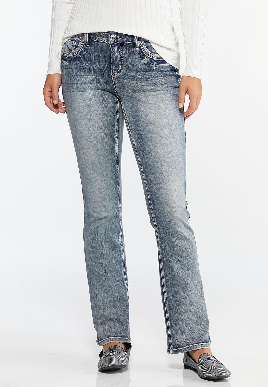 Petite Embellished Bootcut Jeans (Item #44400359)