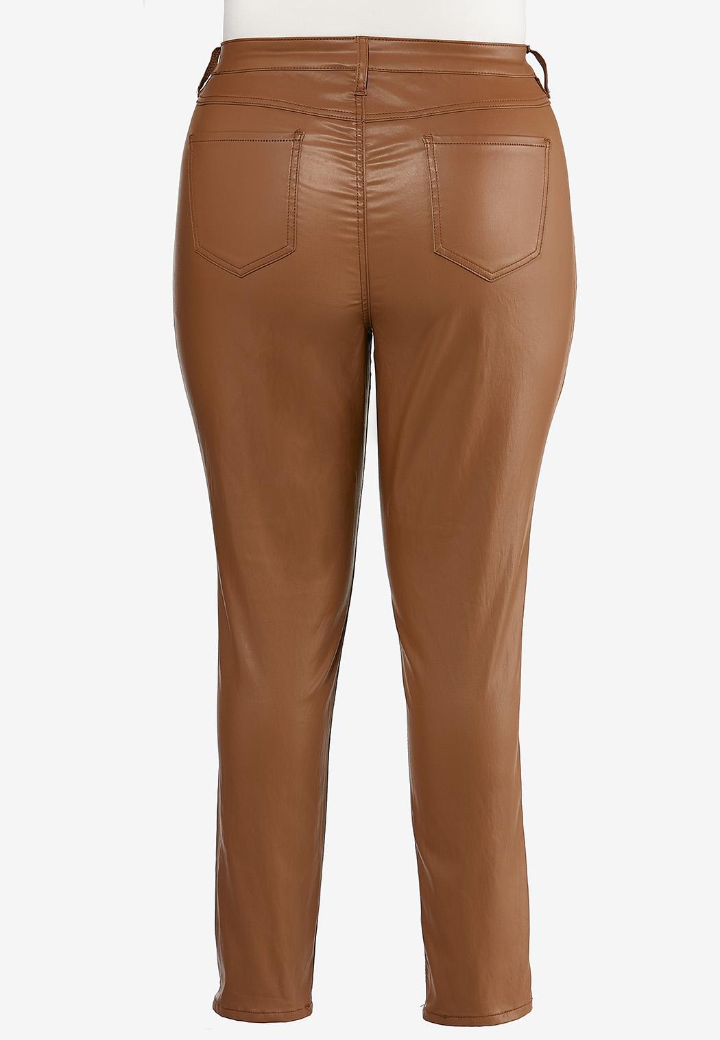 Plus Size Caramel Coated Jeans (Item #44401724)