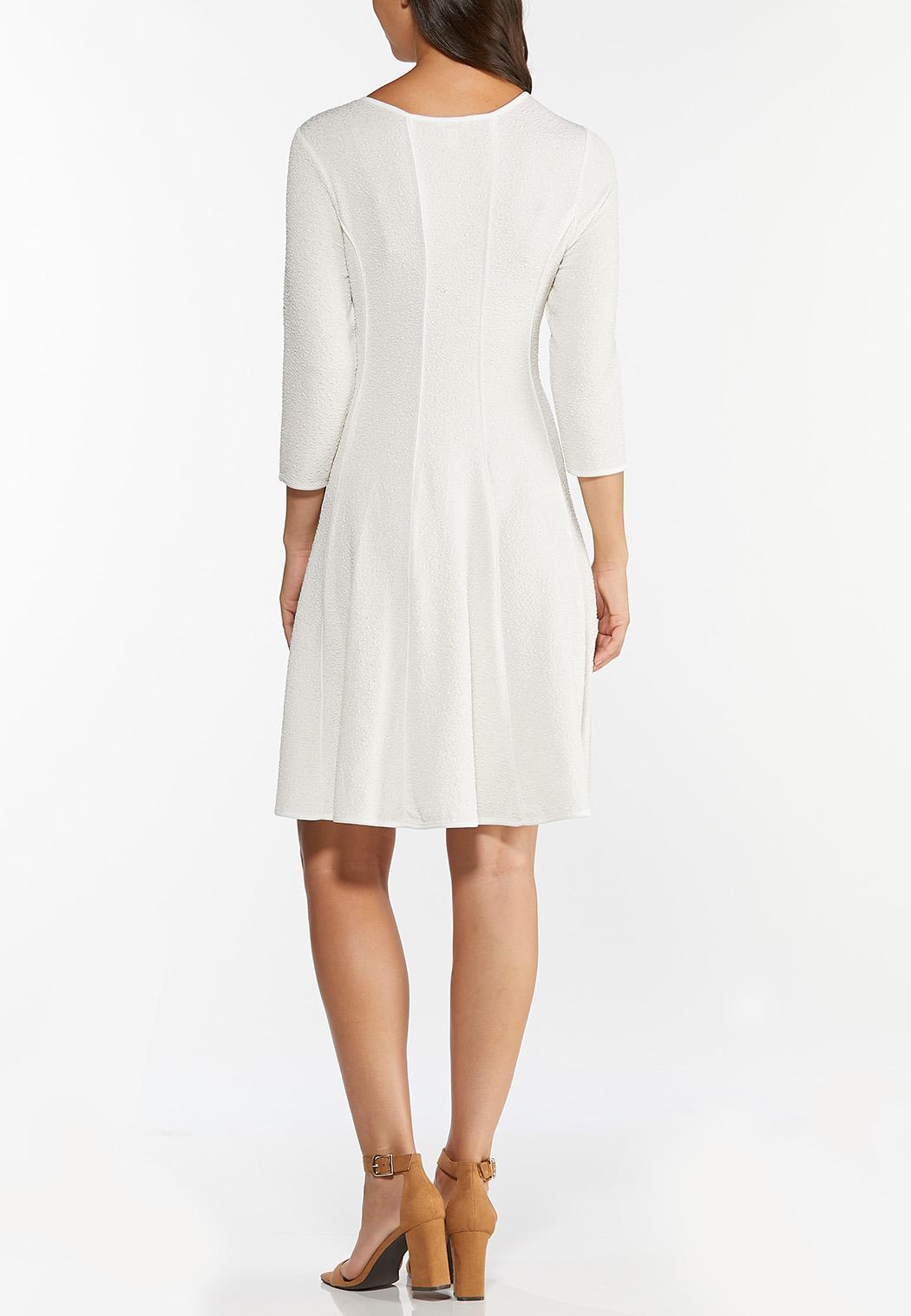 Plus Size Sparkle Ivory Seamed Dress (Item #44402955)